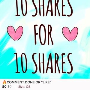 10 shares for 10 shares